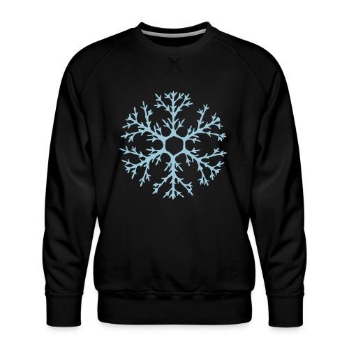 schneeflocke-hellblau-ver - Männer Premium Pullover