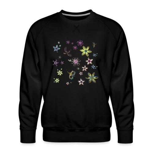 flowers and butterflies - Felpa premium da uomo