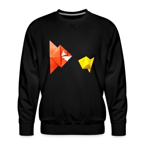 Origami Piranha and Fish - Fish - Pesce - Peixe - Men's Premium Sweatshirt