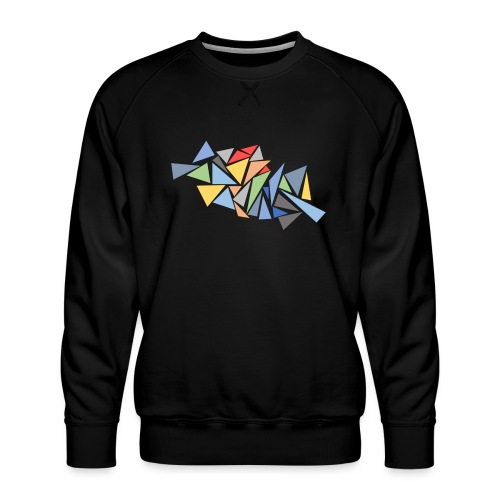 Modern Triangles - Men's Premium Sweatshirt