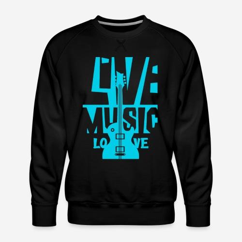 live music guitar - Männer Premium Pullover