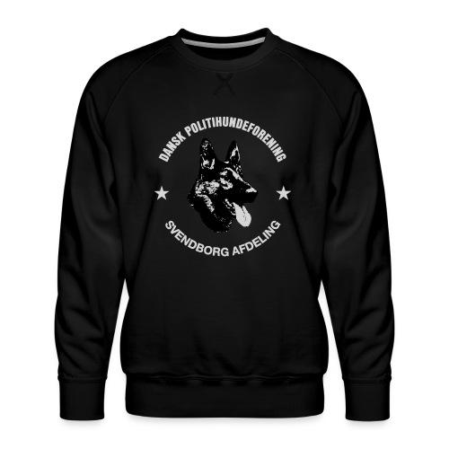 Svendborg PH hvid skrift - Herre premium sweatshirt