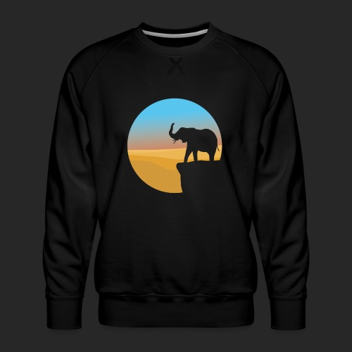 Sunset Elephant - Men's Premium Sweatshirt