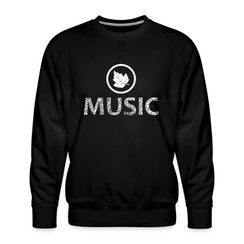 logo bashk music e bardhe - Men's Premium Sweatshirt