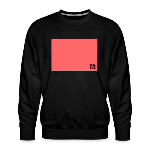 JustSquares Roze - Mannen premium sweater