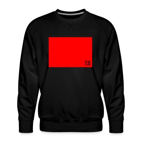JustSquares Rood - Mannen premium sweater