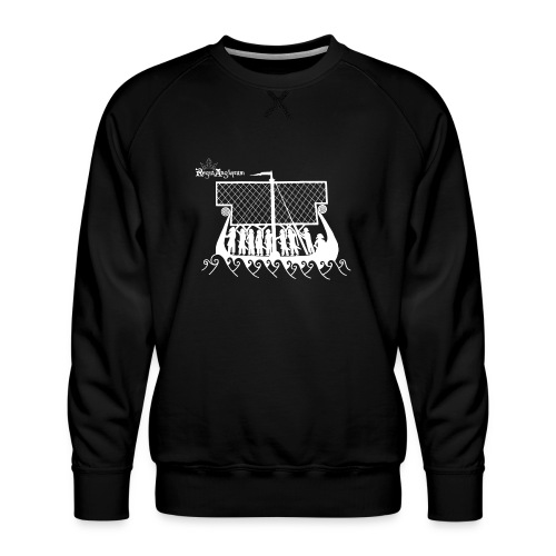 Regia TShirt Boat Clearbackground 2 White - Men's Premium Sweatshirt