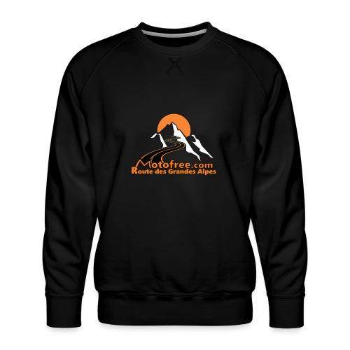 logo motofree orange - Sweat ras-du-cou Premium Homme