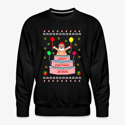 Happy Birthday Jesus Ugly Christmas - Männer Premium Pullover