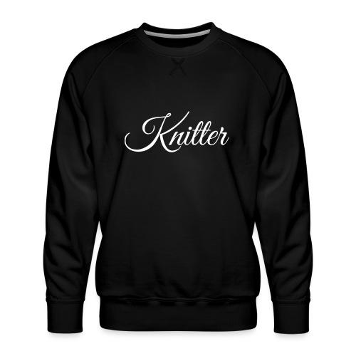Knitter, white - Men's Premium Sweatshirt