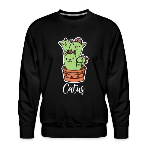 Catus Pflanze oder Tier Katze Kaktus lustig - Männer Premium Pullover