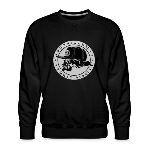 skull 13 milles noir et gris super design - Sweat ras-du-cou Premium Homme