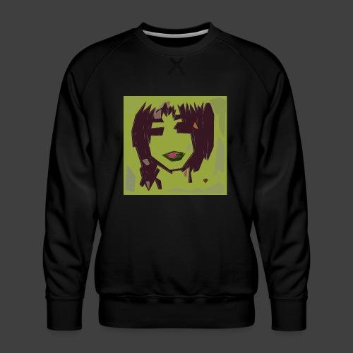 Green brown girl - Men's Premium Sweatshirt