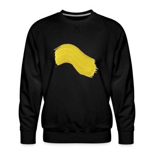 Yellow paint - Premium-genser for menn
