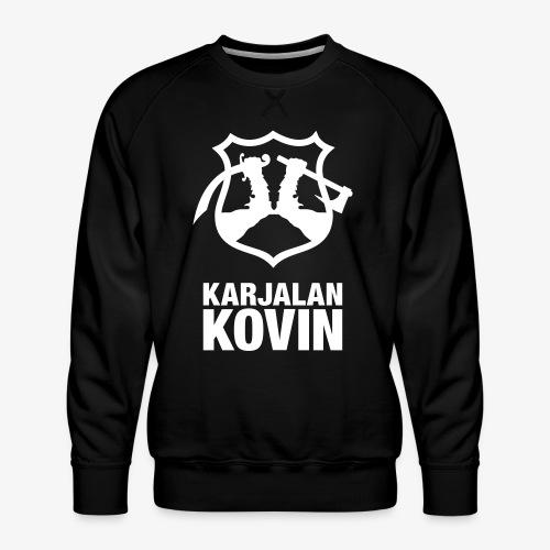 Karjalan Kovin Iso logo - Miesten premium-collegepaita