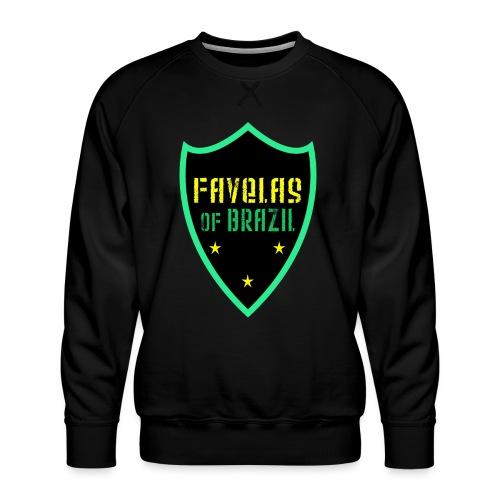 FAVELAS OF BRAZIL NOIR VERT DESIGN - Sweat ras-du-cou Premium Homme