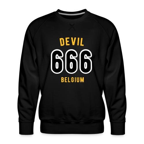 666 devil Belgium - Sweat ras-du-cou Premium Homme