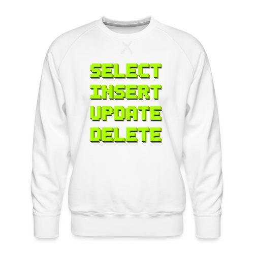 SQL pixelart black - Männer Premium Pullover