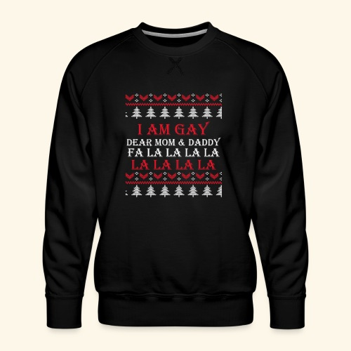 Gay Christmas sweater - Bluza męska Premium
