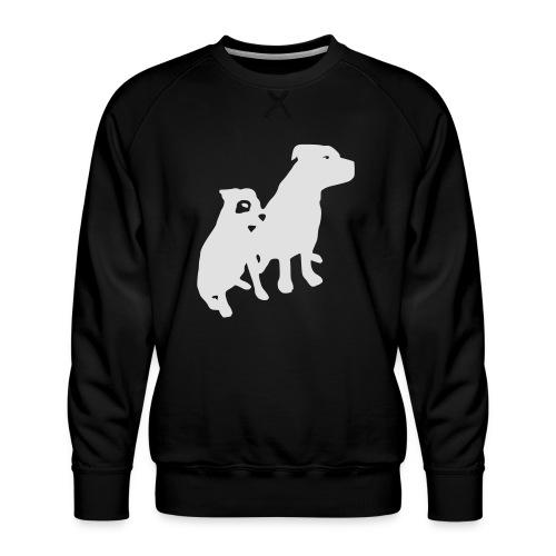 Doggy / zwei brave Hunde zum verschenken - Männer Premium Pullover