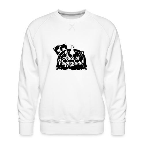 Alice in Nappyland TypographyWhite with background - Men's Premium Sweatshirt