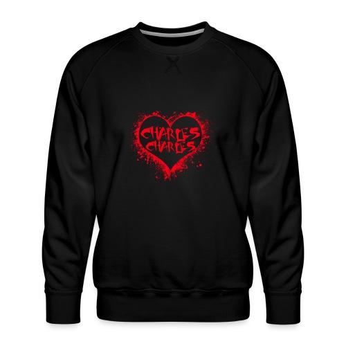 CHARLES CHARLES VALENTINES PRINT - LIMITED EDITION - Men's Premium Sweatshirt