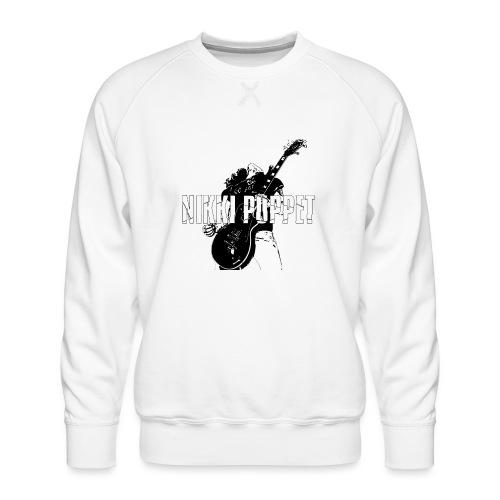 NP gitarrist Logo weiss - Männer Premium Pullover