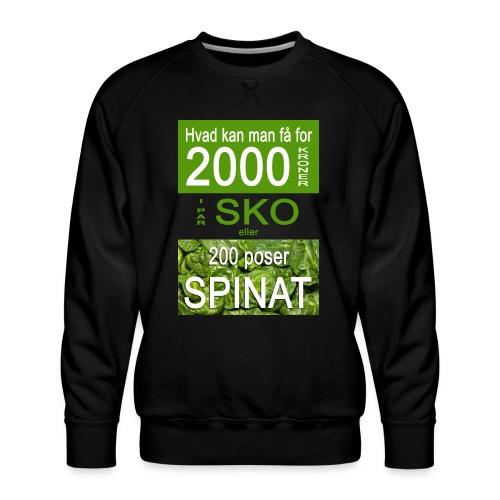 Hvad kan man få for 2000 kroner - Herre premium sweatshirt