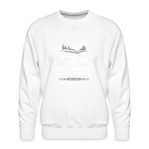 Rocky Mountain Nationalpark Berg Bison Grizzly Bär - Men's Premium Sweatshirt