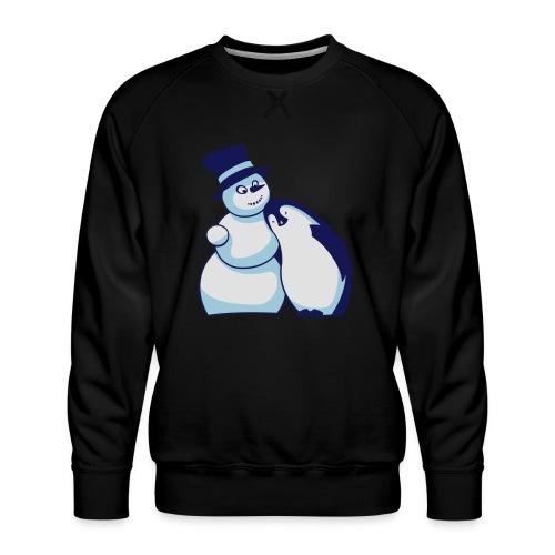 Schneemann und Pinguin - Männer Premium Pullover