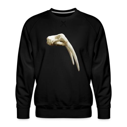 Schedel van een walrus - Mannen premium sweater