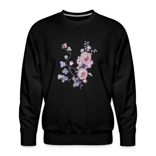 Schlichte Blumen - Männer Premium Pullover