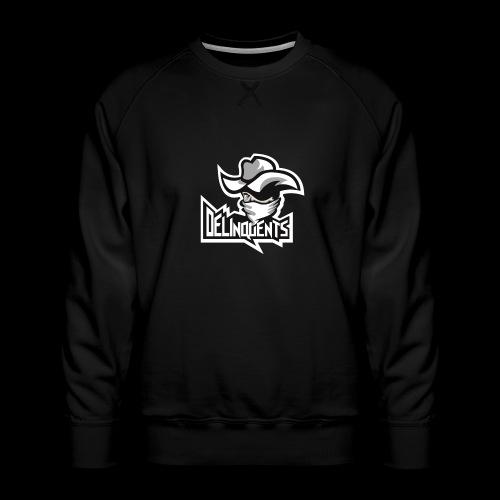 Delinquents Sort Design - Herre premium sweatshirt