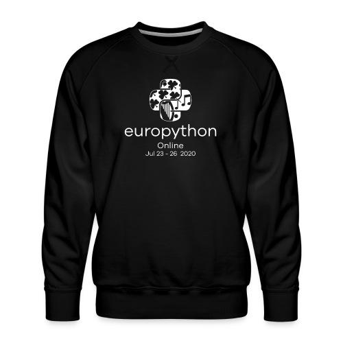 EuroPython 2020 - Vertical White Logo - Men's Premium Sweatshirt