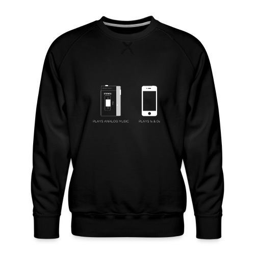 walkman analog - phone 1&0s - Men's Premium Sweatshirt