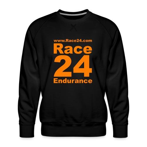 Race24 Logo in Orange - Men's Premium Sweatshirt