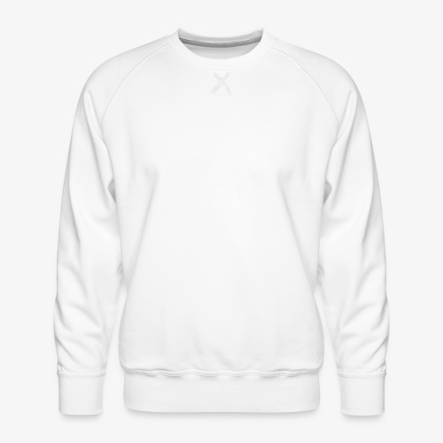 Hidden Creatures Logo White - Men's Premium Sweatshirt
