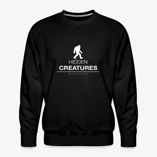 Hidden Creatures Logo White - Men's Premium Sweatshirt