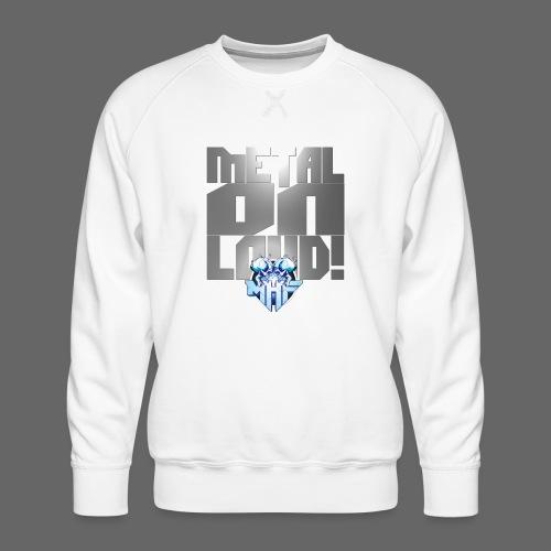 metalonloud large 4k png - Men's Premium Sweatshirt