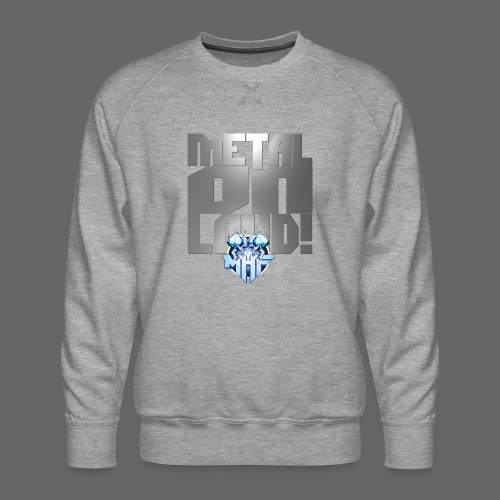 metalonloud large 4k png - Men's Premium Sweatshirt
