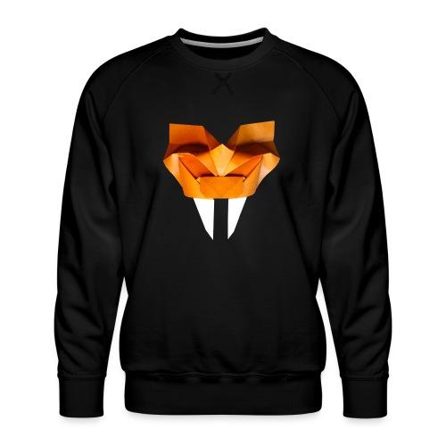 Origami Saber Toothed Tiger Mask - Origami Tiger - Men's Premium Sweatshirt