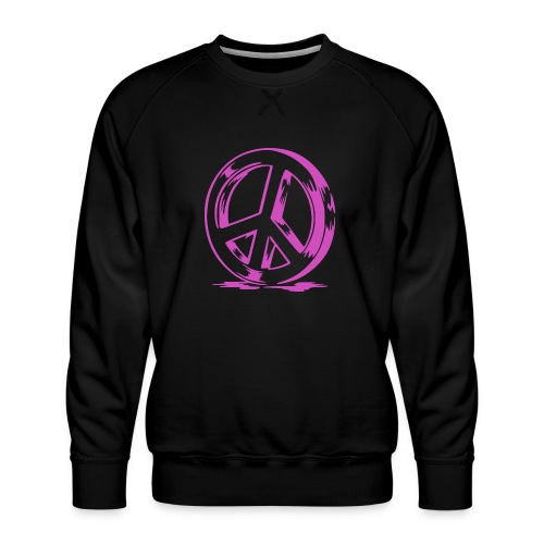 Peace and Love - Sweat ras-du-cou Premium Homme