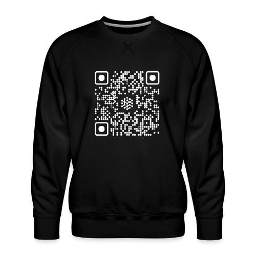 QR Safenetforum White - Men's Premium Sweatshirt