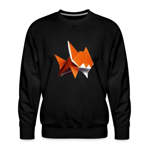 Jumping Cat Origami - Cat - Gato - Katze - Gatto - Men's Premium Sweatshirt