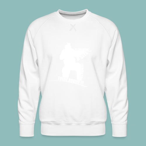 I'd rush you! White Version - Männer Premium Pullover
