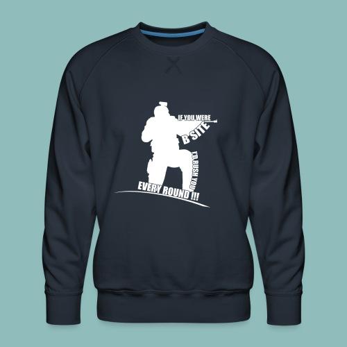 I'd rush you! White Version - Männer Premium Pullover