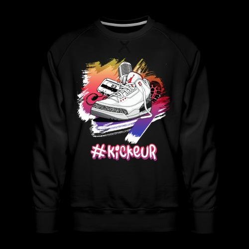 #Kickeur Blanc - Sweat ras-du-cou Premium Homme