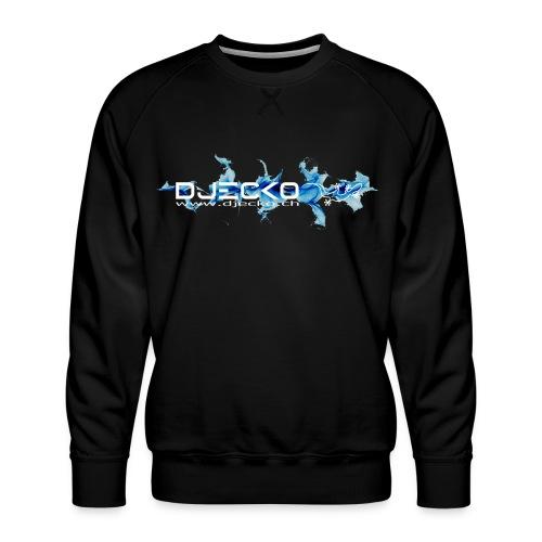 logo wave bleu fond noir - Sweat ras-du-cou Premium Homme