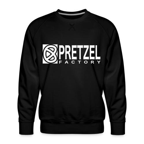 Pretzel Factory Logo Blanc - Sweat ras-du-cou Premium Homme