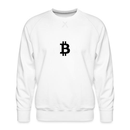 Das B steht fuer Business weiss - Männer Premium Pullover